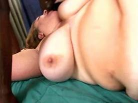 Fat mature with huge tits in threesome