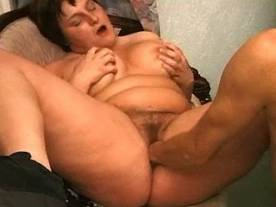 Chubby mature gets hot jizz on face