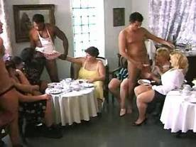 Horny fat women in crazy sex party