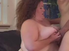 Giant busty fatty screwed on floor