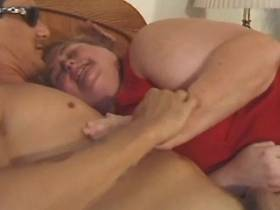 Giant obese mature sucks and fucks