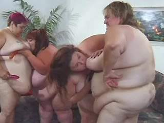 Four giant ultrafat ladies have fun