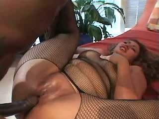 BBW in fishnet wear fucked and jizzed