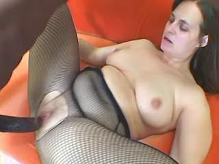 Plump woman gets facial after anal