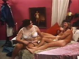 Large obese woman seducing two guys