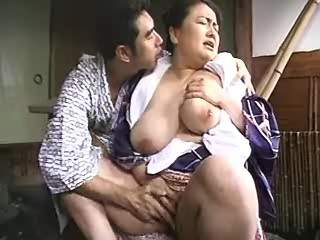 Big Japanese woman fucks and gets cum