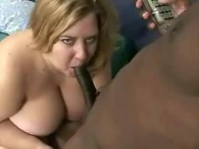 Skinny black guy licks wet fat pussy