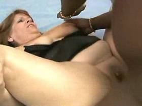 Blackie fucks old fatty with big boobs