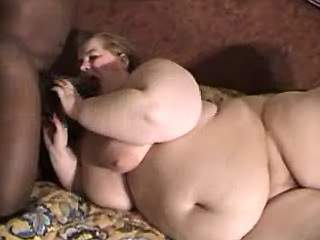Huge lady licked by chocolate guy