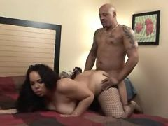Chubby girl gets cumload on big ass