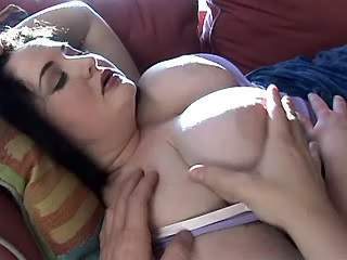 Man loves caress fat girl with big tits