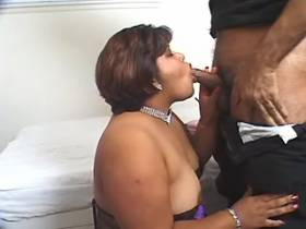 Black fat bitch gets cumload in mouth