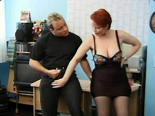 Busty redhead milf does titsfuck and sucks cock