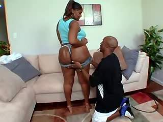 Hot ebony fatty spoils black guy